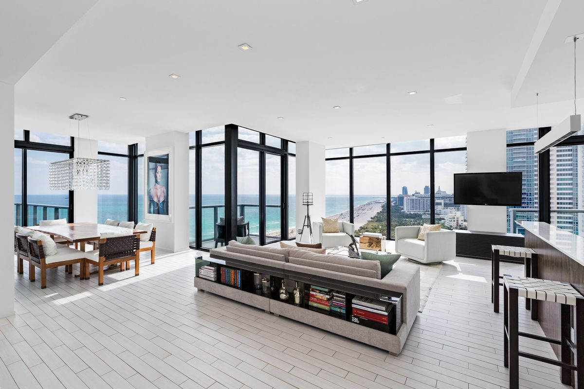Tour the record-breaking Miami Beach penthouse that sold for $10.2M ...