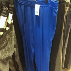 Royal blue drawstring pants, $89 (were $295)