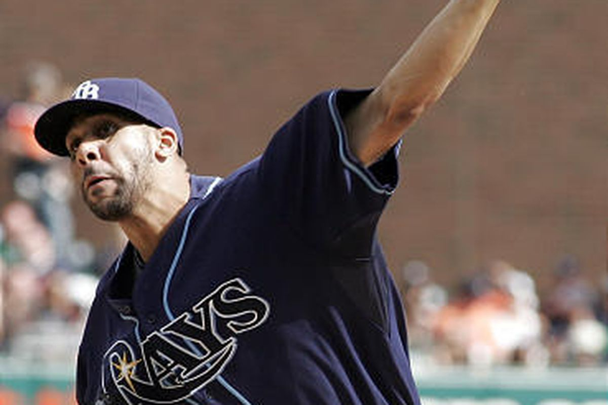 Tampa Bay Rays pitcher David Price hurls a pitch against the Detroit Tigers.