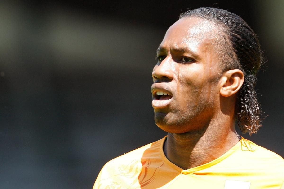 Ivory Coast's forward Didier Drogba reacts during an international friendly test game between the national soccer teams of Ivory Coast and Japan at the Stade de Tourbillon in Sion, Friday, June 4, 2010, ahead of the FIFA World Cup 2010 in South Africa. (A