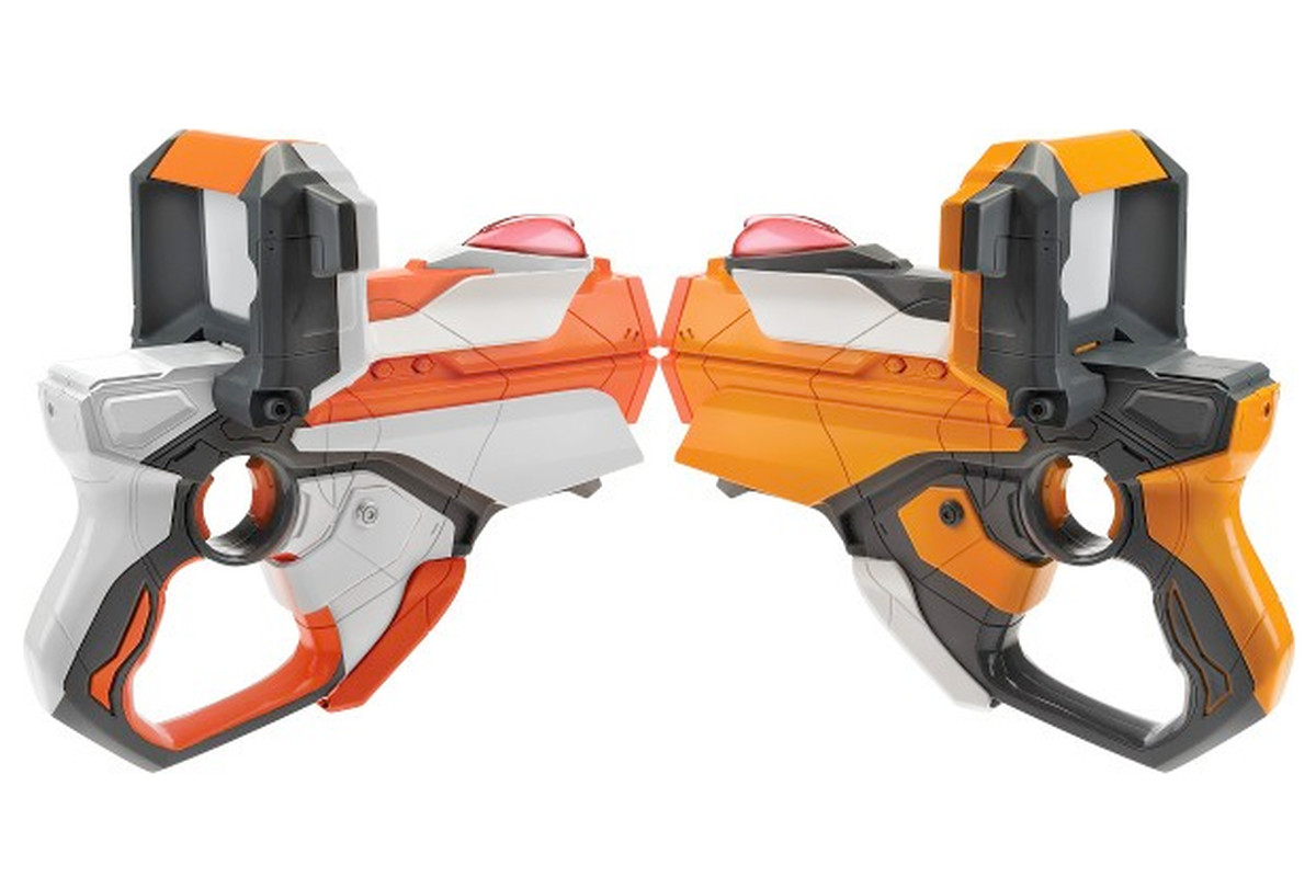 Hasbro just announced that its 2012 Nerf Lazer Tag blasters can be combined  with an iPhone or iPod touch to provide a heads-up display, an increased  firing ...