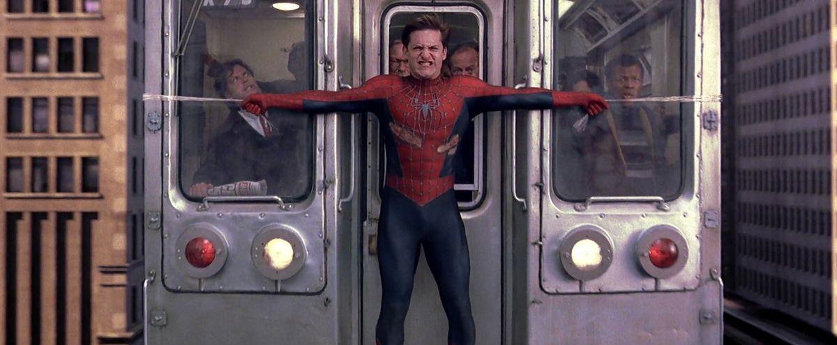 spider-man 2 2004 subway scene