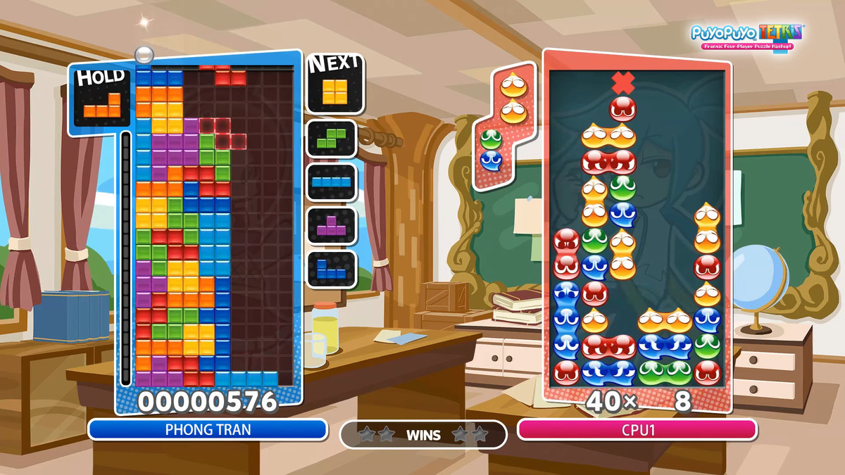 the four wide setup for Perfect Clears in Tetris