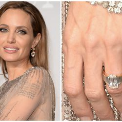 Brad Pitt worked with jeweler Robert Procop for over a year to perfect this 10-carat sparkler — valued at $250,000 — before his spring 2012 proposal to Angelina Jolie.