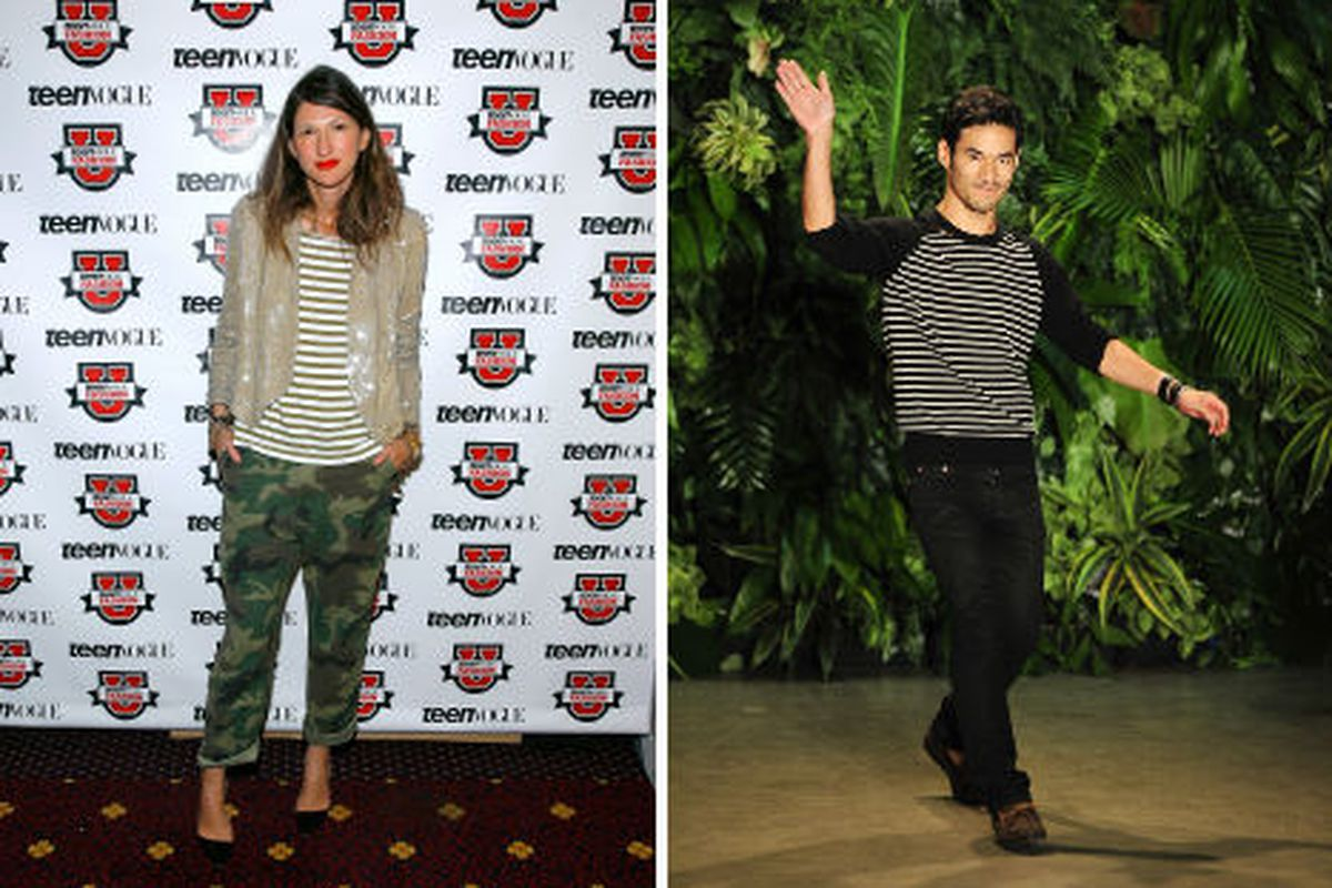One of the many reasons this makes sense: Joseph Altuzarra and Jenna Lyons share a passion for stripes. Image via Getty