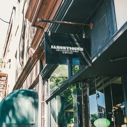 """<b>↑</b>The owners of <b><a href="""" http://jarontiques.com/"""">Jarontiques</a></b> (117 Atlantic Avenue) have been collecting rare finds for years, so their store feels like stepping into an antique expert's hidden archives. You'll find mid-century and Danis"""