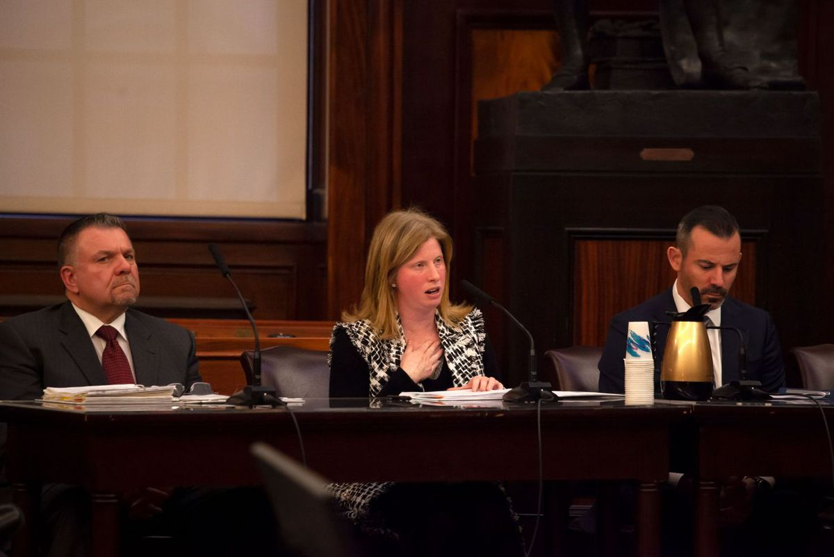 Department of Information Technology Commissioner Jessica Tisch testifies before the City Council.