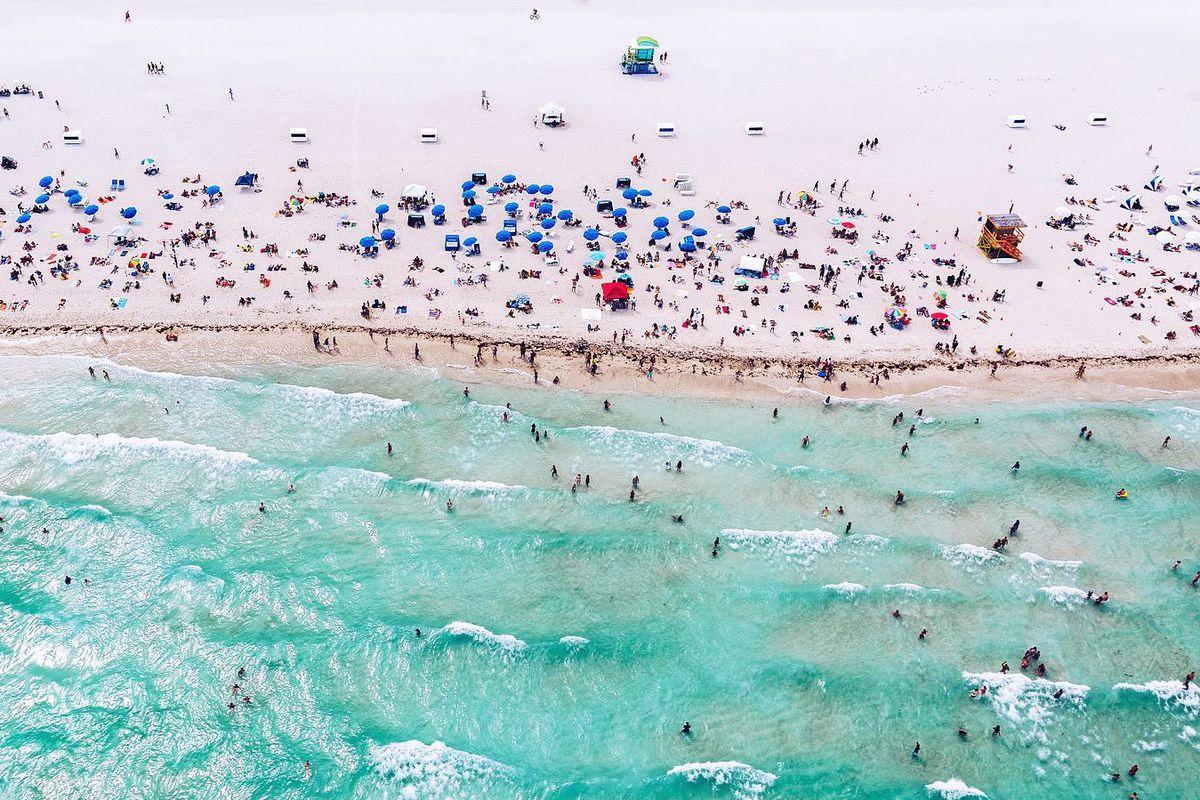 An aerial of Miami Beach