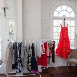 The red maxi dress is gorgeous silk taffeta.