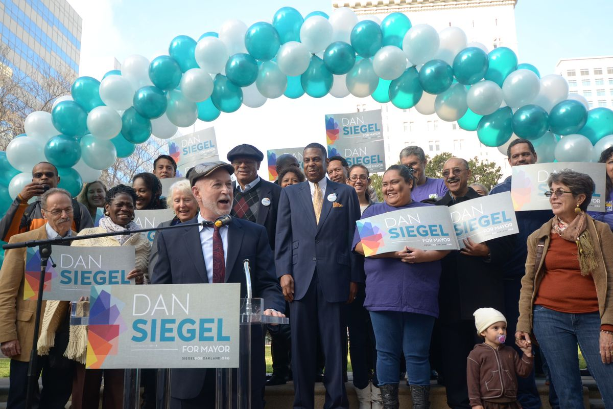 Dan Siegel at a campaign event in January 2014.