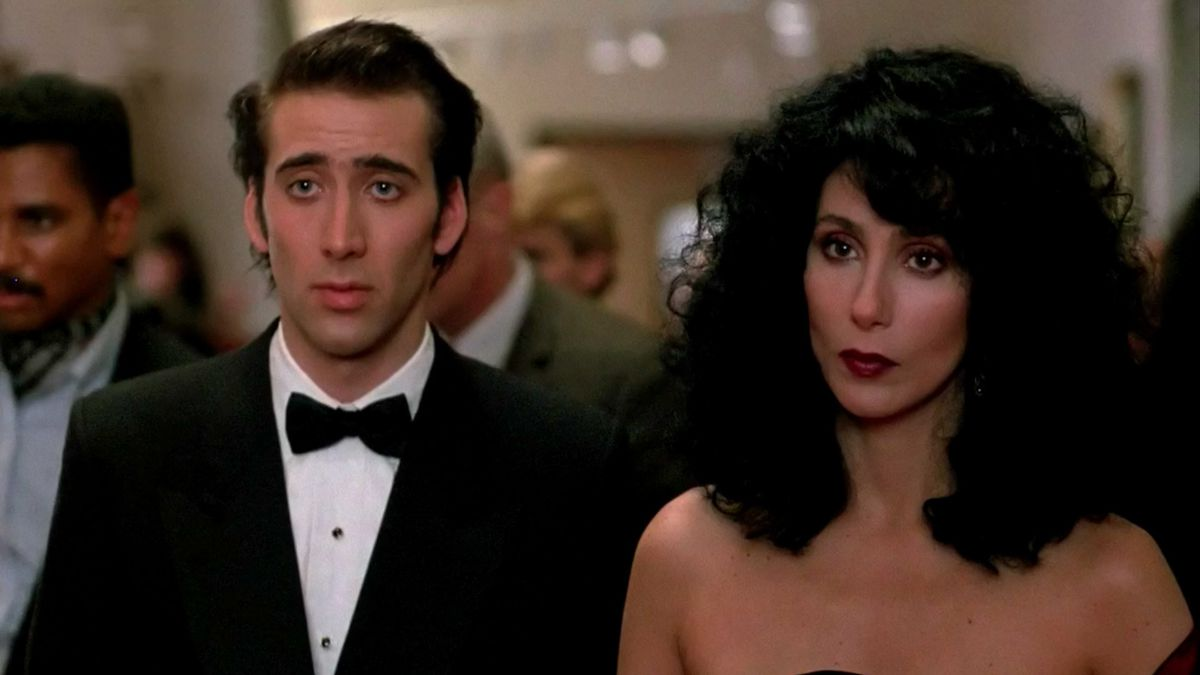 Cher and Nic Cage in Moonstruck at the opera