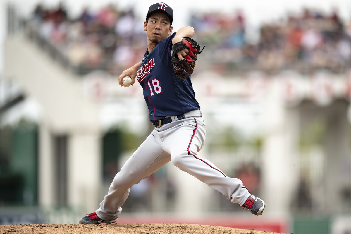 Kenta Maeda #18 of the Minnesota Twins delivers during the second inning of a Grapefruit League game against the Boston Red Sox on March 8, 2020 at jetBlue Park at Fenway South in Fort Myers, Florida.