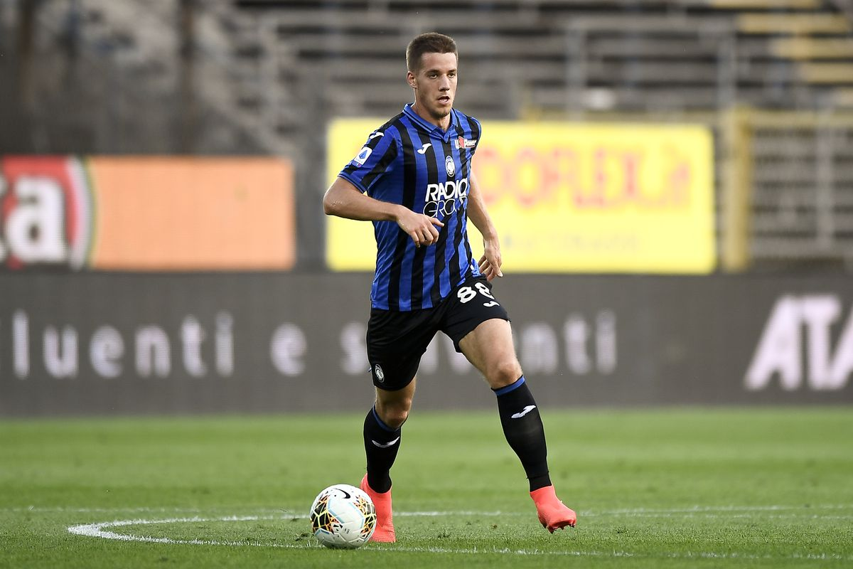 Mario Pasalic of Atalanta BC in action during the Serie A...