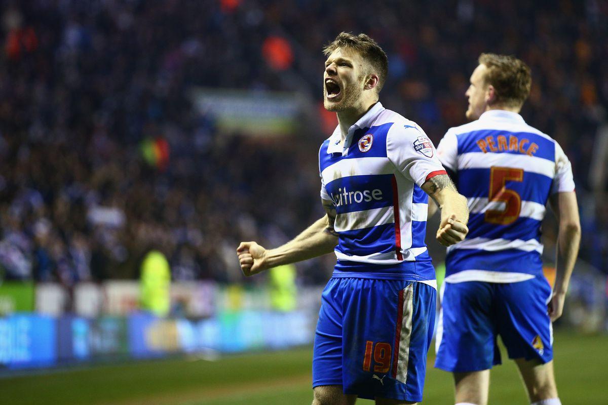 Jamie Mackie celebrates Readings 3rd goal
