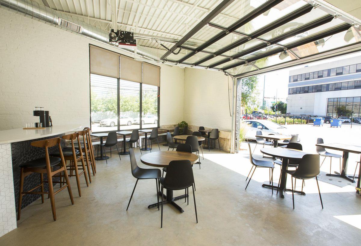 An empty coffee shop.