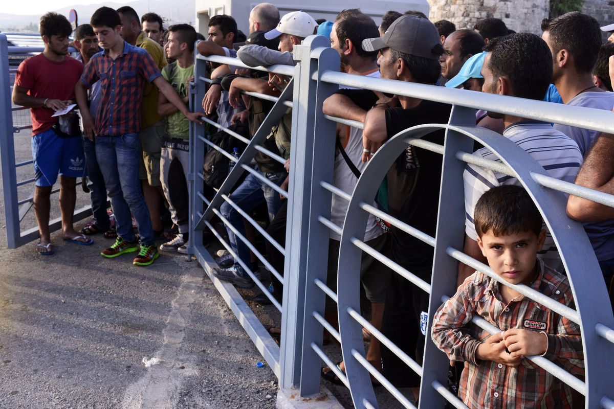 Syrian refugees in Greece.