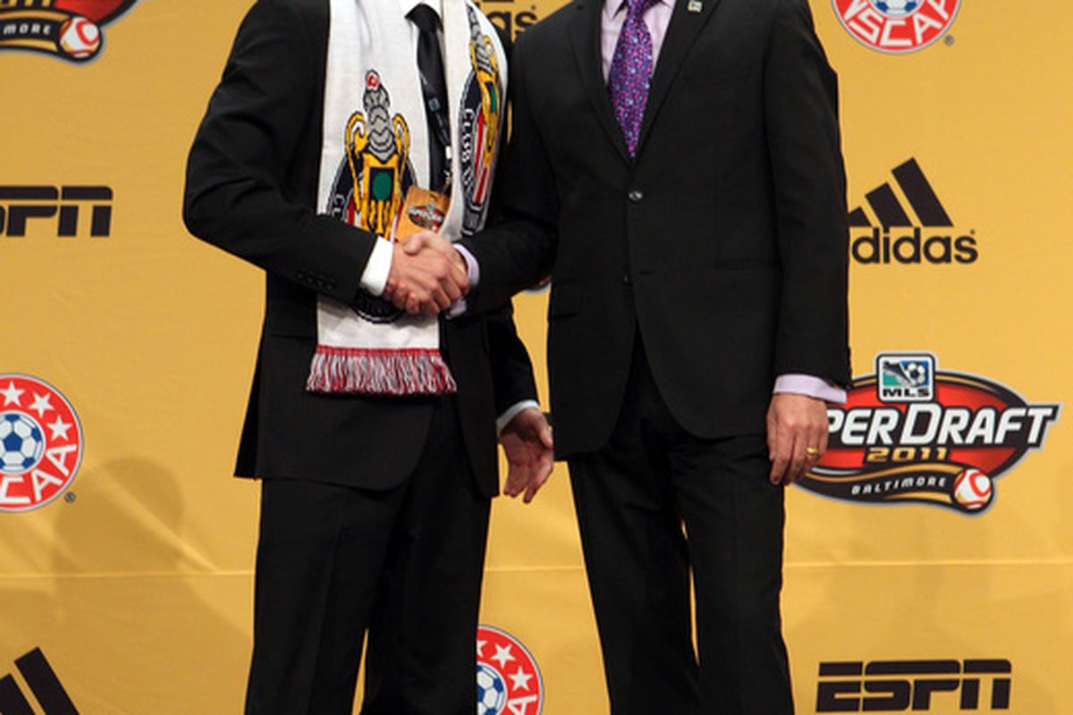 BALTIMORE - JANUARY 13: Will another defender be selected by Chivas USA January 12?(Photo by Ned Dishman/Getty Images)