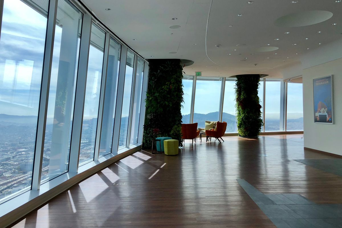 Image result for inside of Salesforce Tower Ohana floor San Francisco