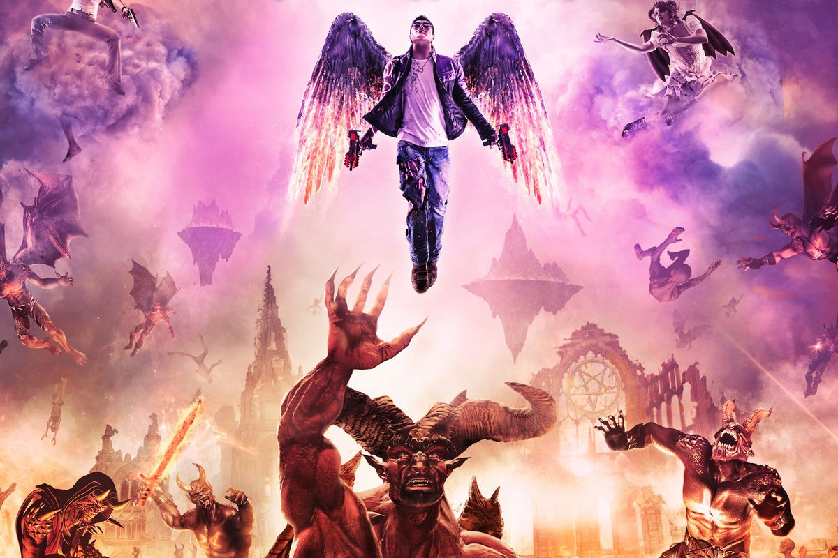 Saints Row 4: Gat Out of Hell artwork