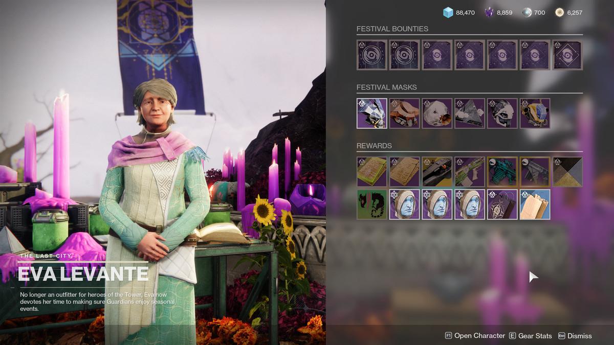 Destiny 2 Eva Levante inventory Festival of the Lost 2021