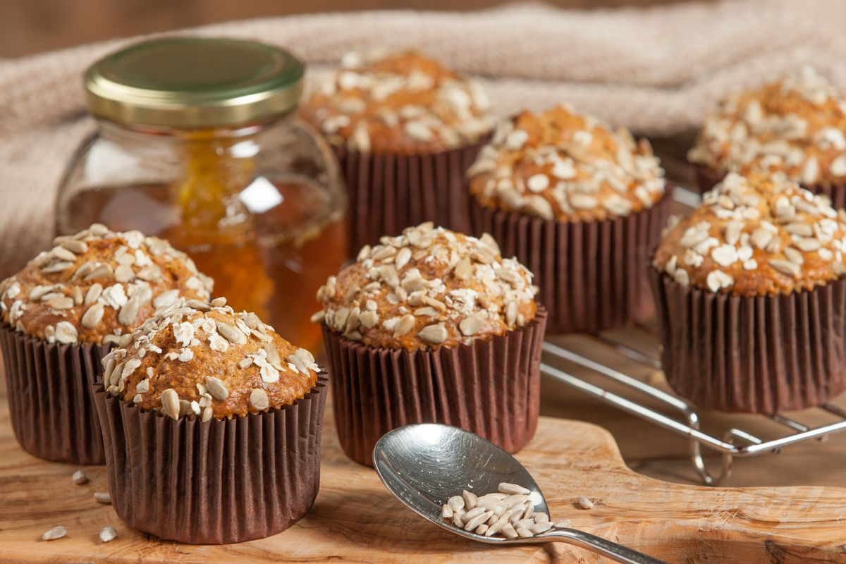 Chia seeds add texture and plenty of flavor to baked goods such as muffins.