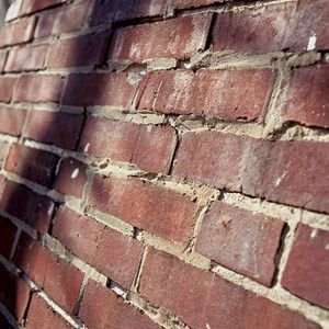 Deteriorating Brick In Need Of Repointing