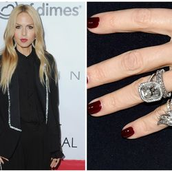 While Rachel Zoe is known for dabbling in different ring combinations, the Neil Lane-designed, 10-carat cushion-cut style husband Rodger Berman gave her in 2010 — an upgrade from the emerald-cut ring he proposed with in 1995 — is always the centerpiece.