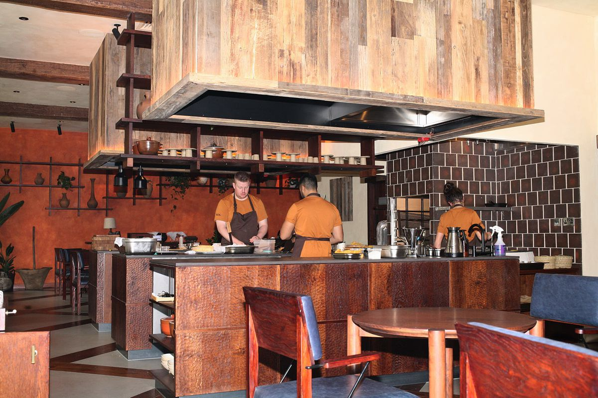 Mexican restaurant Kol's central open kitchen