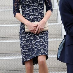 In an Erdem dress and L.K. Bennett pumps on June 30th, 2011, the first day of the royal couple's Canadian tour.