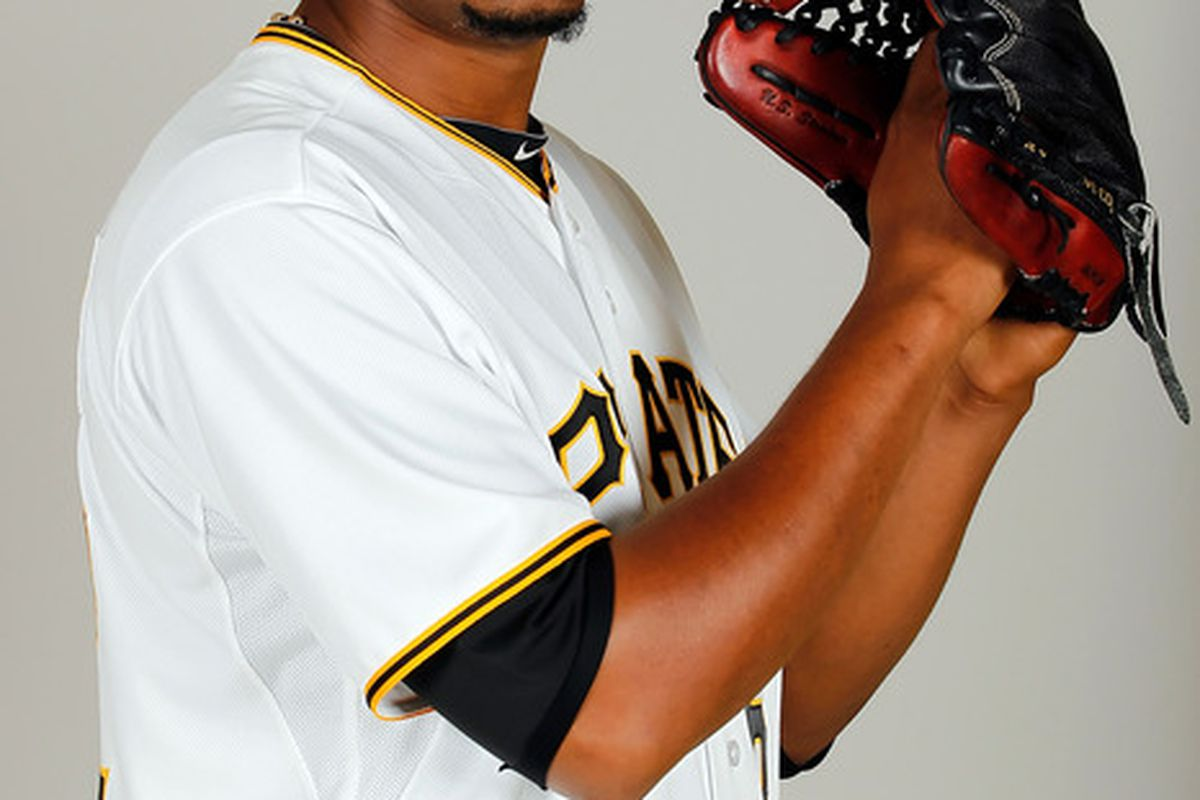 BRADENTON FL - FEBRUARY 20:  Pitcher Ramon Aguero #62 of the Pittsburgh Pirates poses for a photo during photo day at Pirate City on February 20 2011 in Bradenton Florida.  (Photo by J. Meric/Getty Images)