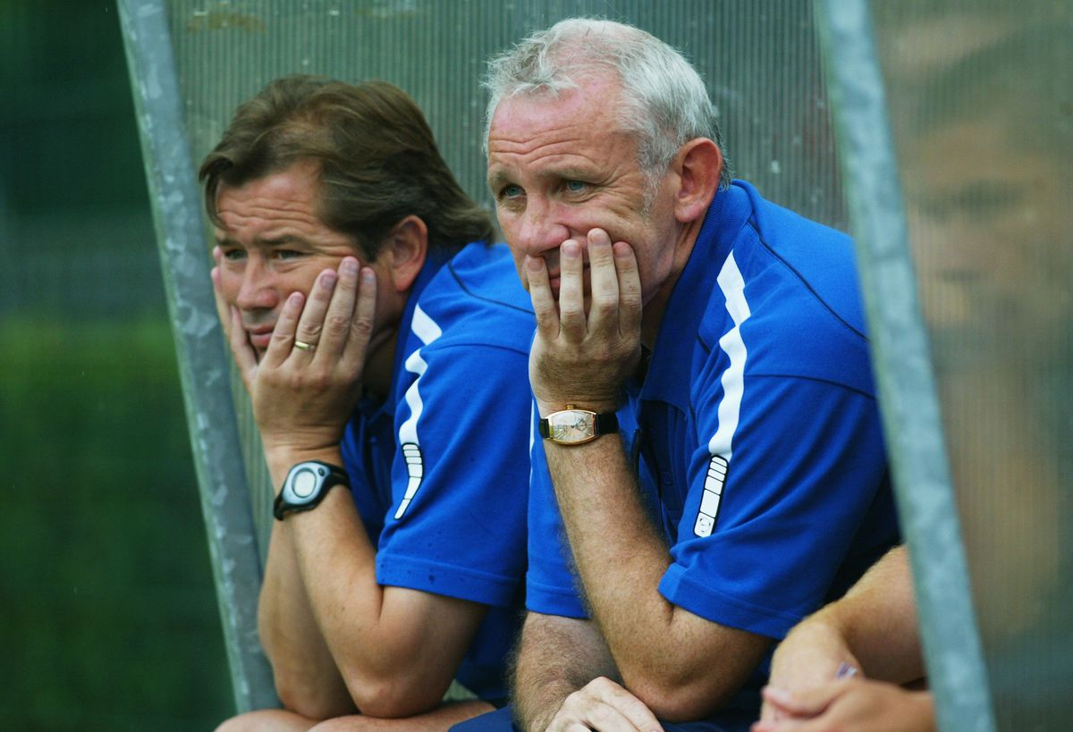 Peter Reid and Adrian Heath