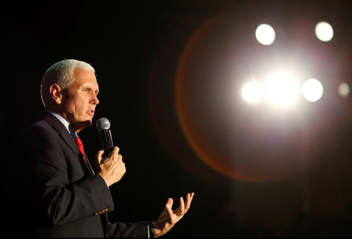 Mike Pence speaks during a rally in Charlotte, N.C., on Oct. 10, 2016.