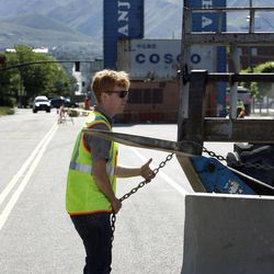 James Alfandre oversees the construction of the future Granary Row marketplace on 700 South in Salt Lake City on Friday, May 31, 2013.