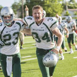 """Matthew Daddario (left) and Alexander Ludwig in """"When the Game Stands Tall."""""""
