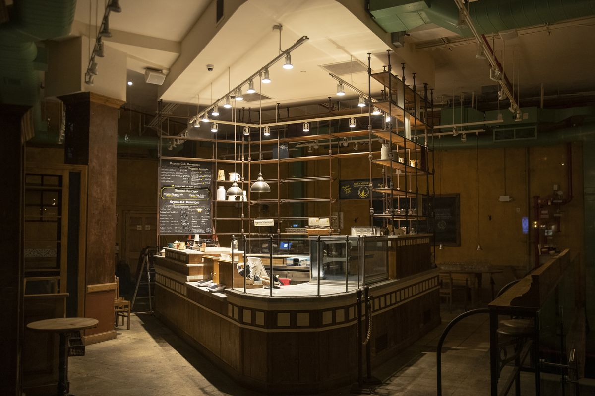 An Le Pain Quotidien in the West Village of Manhattan as the Coronavirus, COVID19, outbreak continued unabated on March 19, 2020 in New York City.