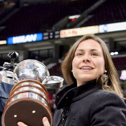 Lisa-Marie Breton-Lebreux won her fourth Clarkson Cup, and fifth CWHL title but first as an assistant coach.