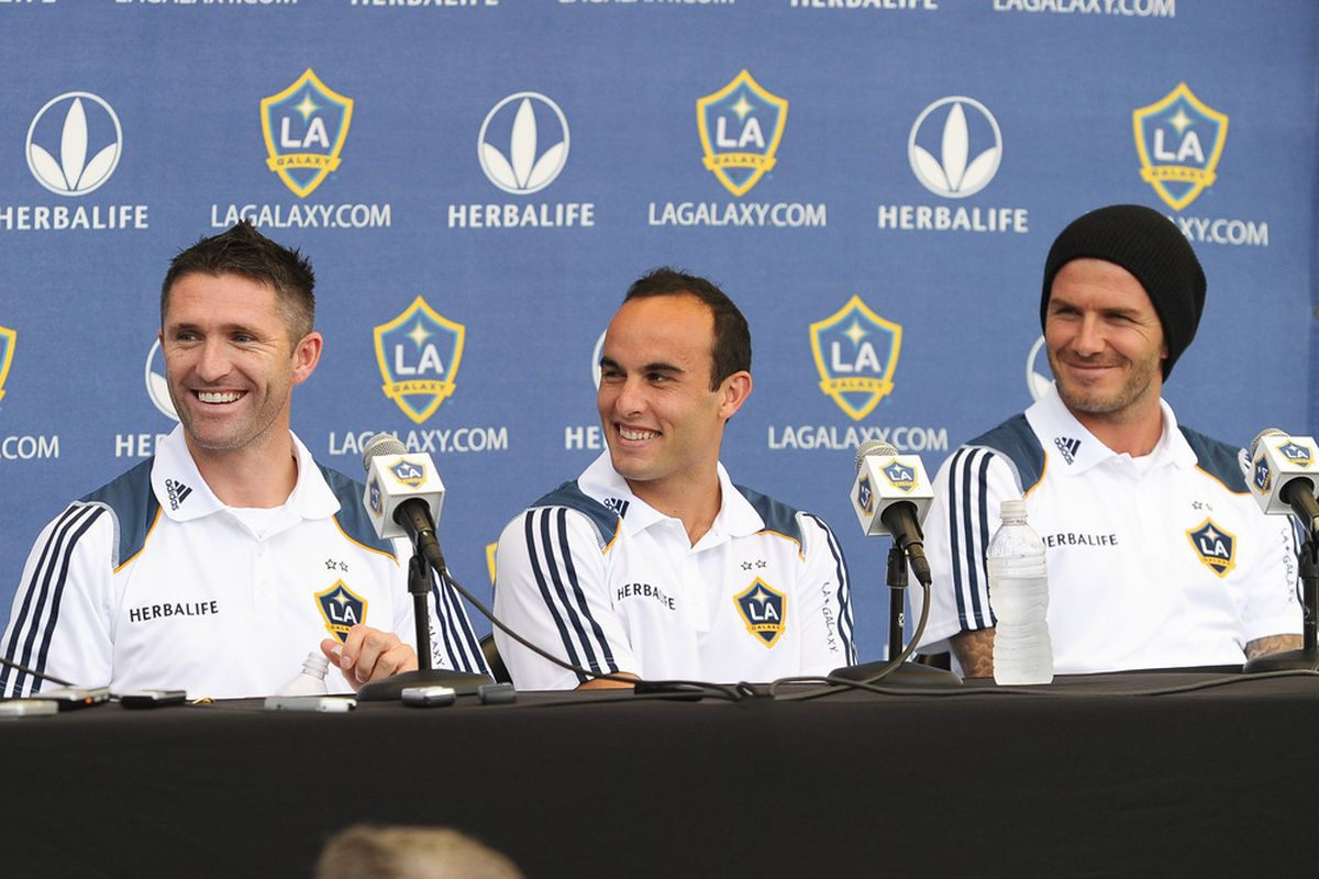 LA Galaxy's three DP's and their attacking trifecta of international talent.