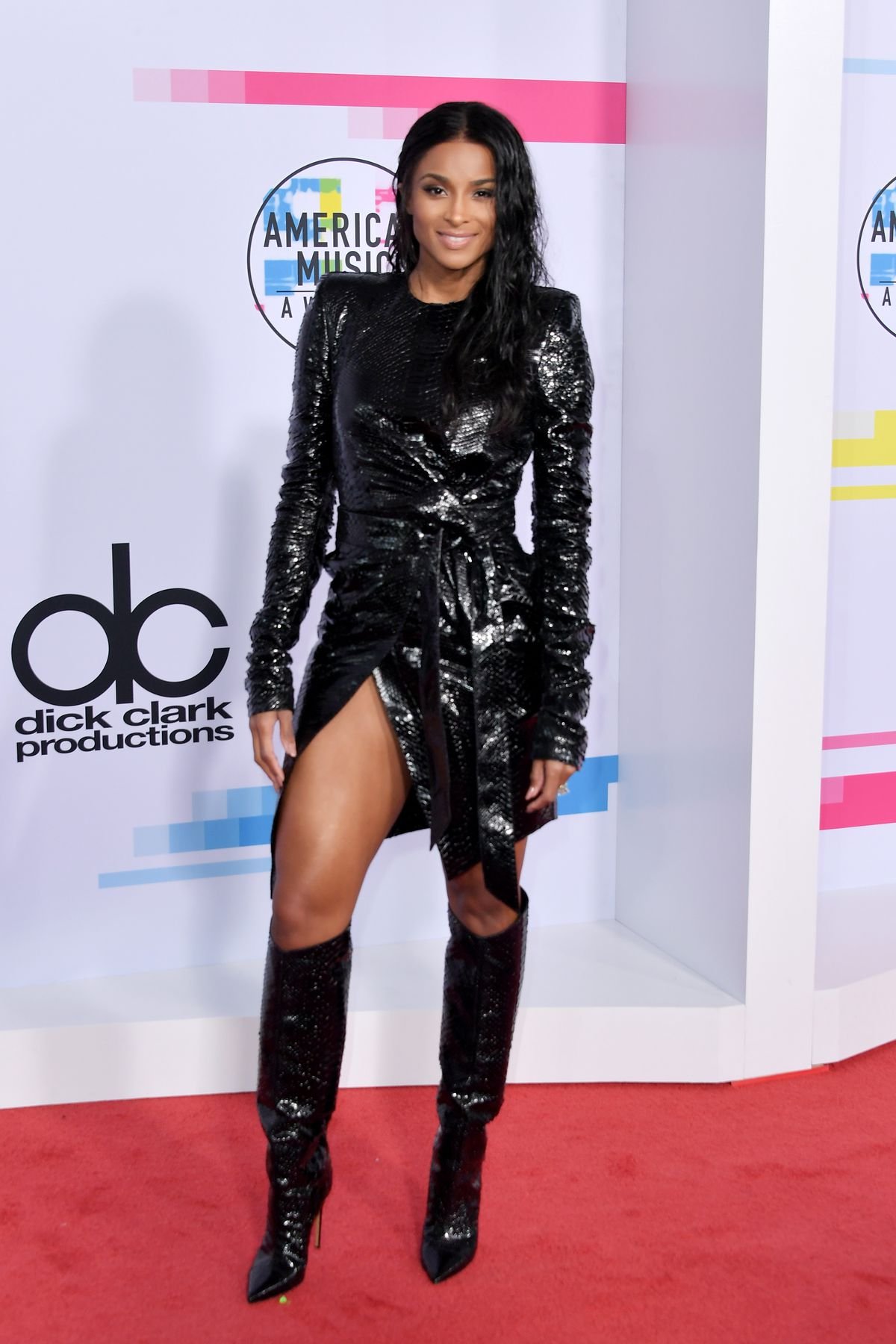 LOS ANGELES, CA - NOVEMBER 19:  Ciara attends the 2017 American Music Awards at Microsoft Theater on November 19, 2017 in Los Angeles, California.