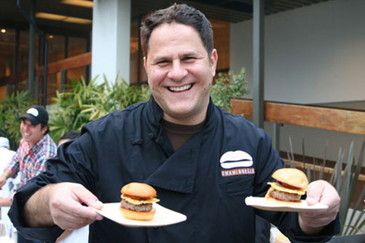 Umami Burger owner Adam Fleischman at South Beach Wine & Food Festival in Miami, where he plans to open yet another location next year.