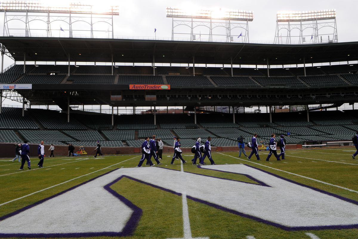 The Northwestern-Wisconsin football game won't be played at Wrigley Field this year.