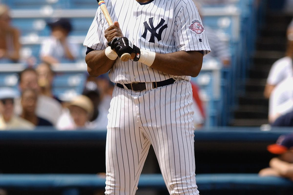 <strong>Dave Winfield</strong> during an appearance at the 2003 Old-Timer's Day Game at Yankee Stadium. (Photo by M. David Leeds/Getty Images)