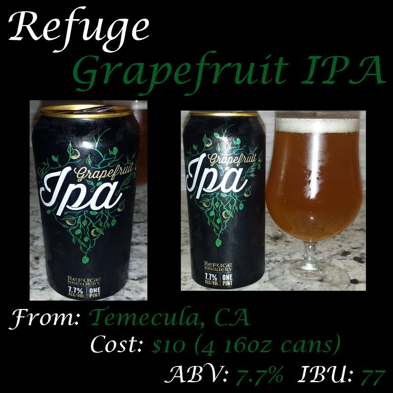 refuge grapefruit ipa