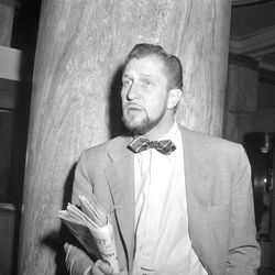 Vincent Price at the Hotel Utah in Salt Lake City on May 3, 1952.