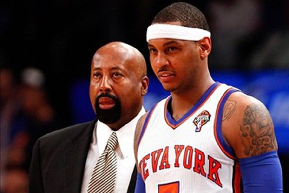 Video Carmelo Anthony Mike Woodson Allan Houston and James