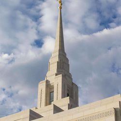 Ogden Utah Temple spire.