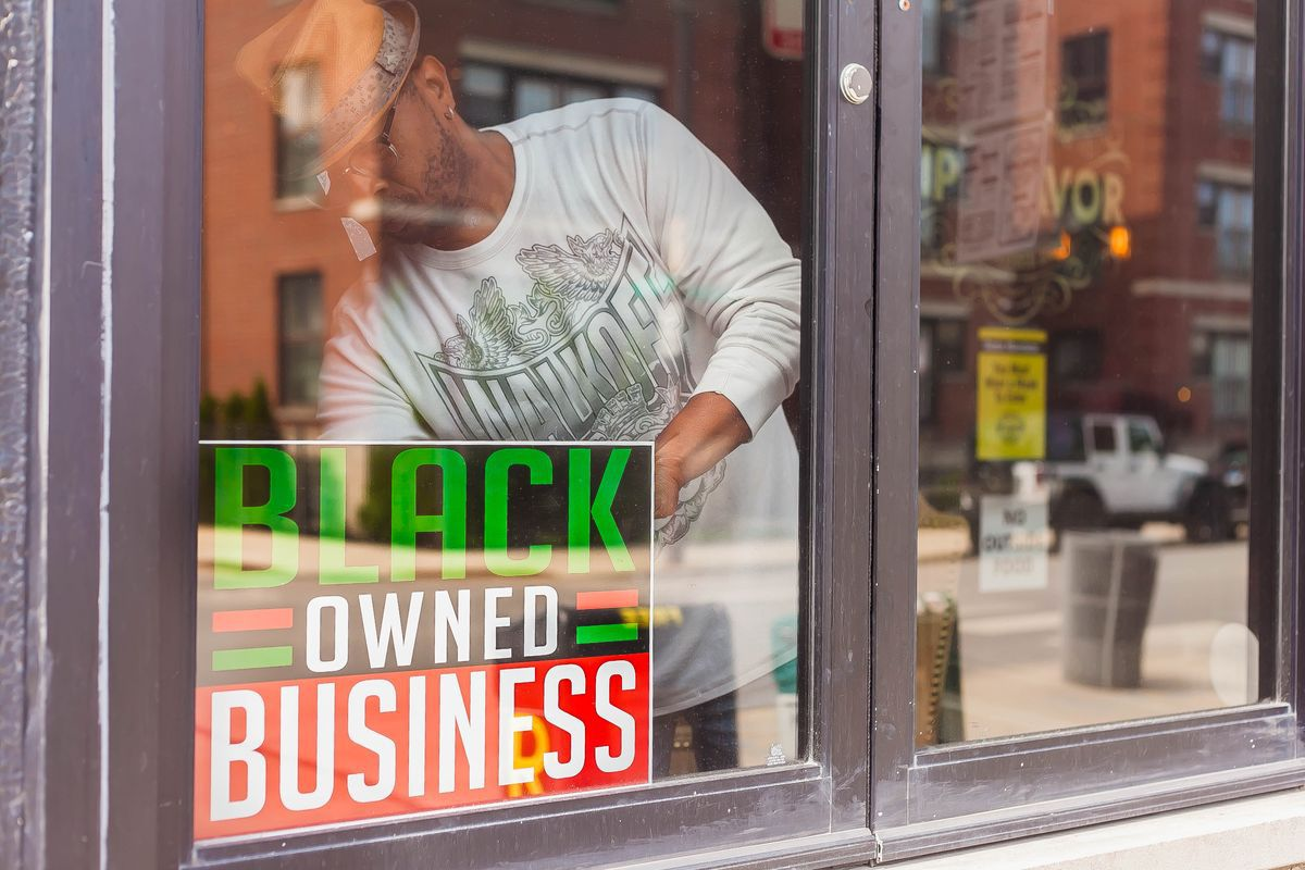 Black-owned business sign