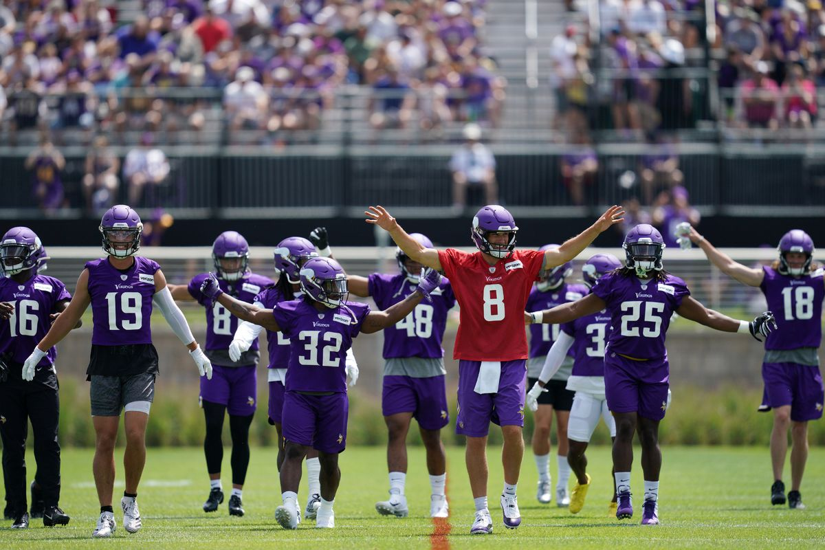 Minnesota Vikings players and coaches took part in training camp at the TCO Performance Center.