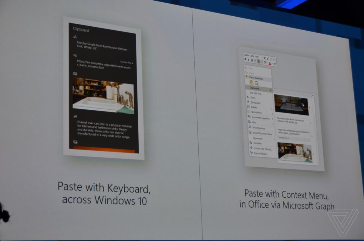 Microsoft's new cloud clipboard lets you paste from a