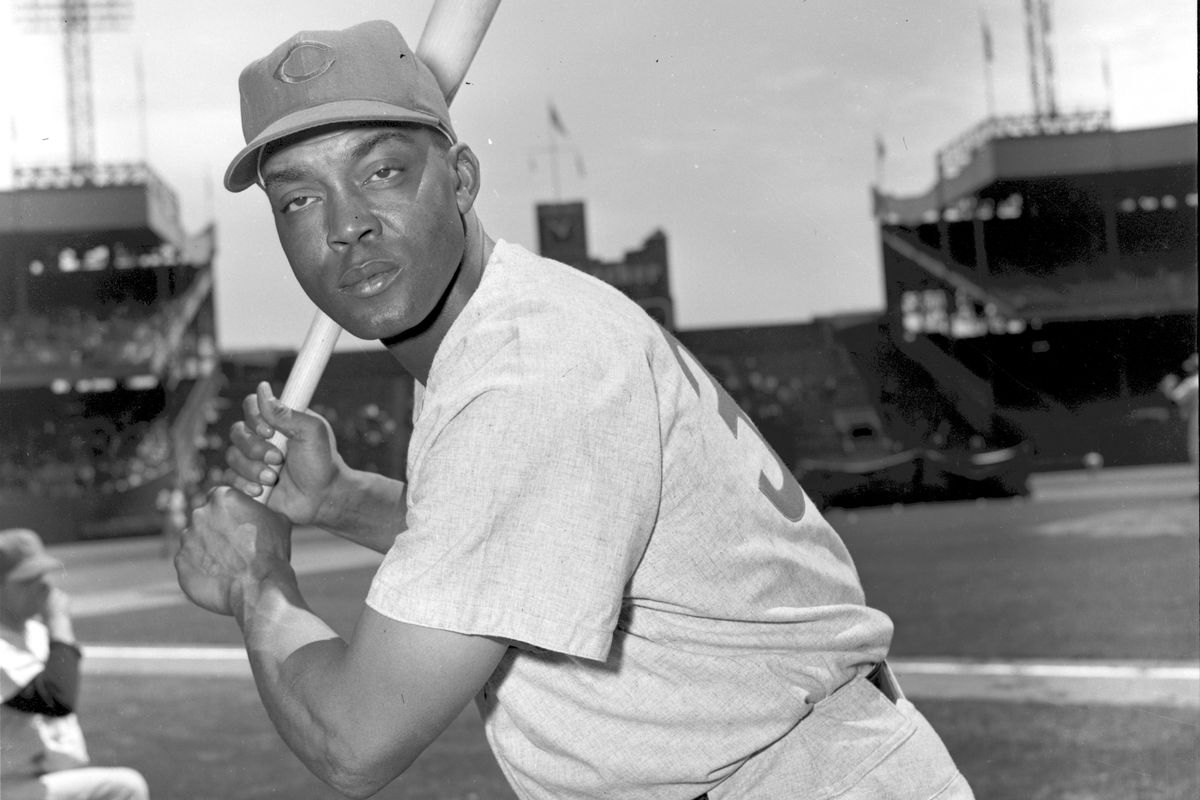 Monte Irvin as a Cub, at the Polo Grounds in New York in 1956