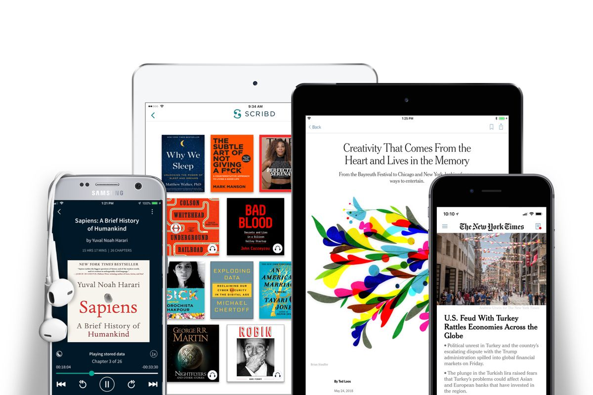 Scribd partners with The New York Times for a cheaper joint